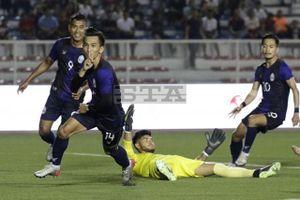 Bóng đá nam SEA Games 30: Chủ nhà U22 Philippines thoát thua Campuchia
