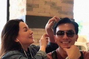 Phi Nhung khẳng định Mạnh Quỳnh không phải là bố con gái nhưng bị bắt gặp vẫn ôm chặt 'chồng tin đồn'