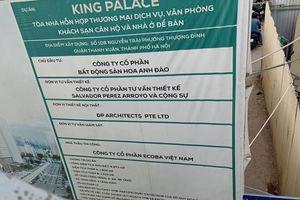 Dự án King Palace: Sắt rơi nhiều lần, người dân lo ngay ngáy