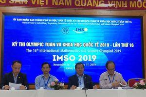 719 thí sinh tham gia kỳ thi Olympic Toán học và Khoa học quốc tế