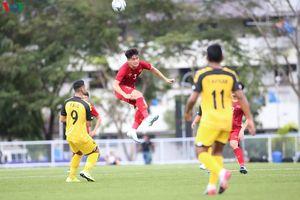 Cầu thủ U22 Brunei tự ý vào sân ở trận đấu với U22 Việt Nam