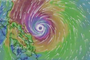 Bão lớn trực chỉ Manila, đe dọa trận U22 Việt Nam gặp Thái Lan và Singapore