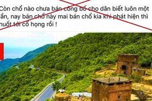 Thừa Thiên – Huế: Thông tin 200ha đất ở Hải Vân 'vào tay' người Trung Quốc là sai sự thật