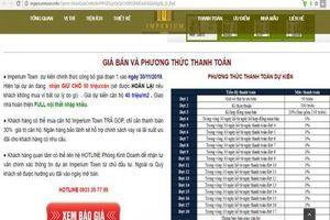 Rao bán trái phép căn hộ Imperium Town Nha Trang