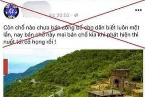 TT - Huế: Tìm, xử lý nghiêm kẻ tung tin bán 200ha đất cho Trung Quốc