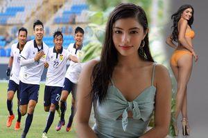 'Bỏng mắt' với hình thể của nàng hậu đồng hành cùng tuyển Lào tại SEA Games 30
