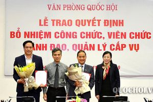 Tòa án nhân dân tối cao, Văn phòng Quốc hội, Bộ Quốc phòng có nhân sự, lãnh đạo mới