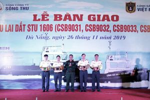 Bộ Tư lệnh Cảnh sát biển tiếp nhận bàn giao 4 tàu lai dắt