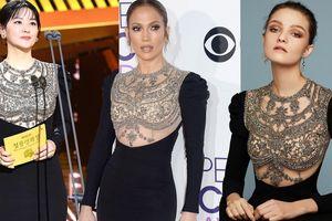 Lee Young Ae diện lại đầm hơn 200 triệu của Jennifer Lopez