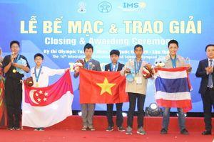 Đoàn Việt Nam đón 'mưa' huy chương ở Kì thi Olympic Toán và Khoa học Quốc tế 2019
