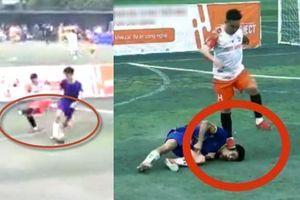 Dân mạng truy lùng, đòi bỏ tù kẻ đạp vẹo cổ đối phương trên sân bóng ở Thái Nguyên