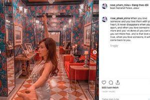 Vợ chồng đại gia Minh Nhựa cùng đăng caption tiếng Anh sau khi bị phát hiện 'mượn' status Hoa hậu Thu Hoài