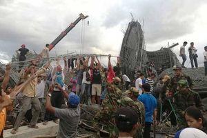 Chùa đang xây đổ sập, hai công nhân Campuchia thiệt mạng