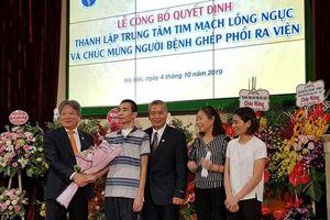 Bệnh nhân ghép phổi tại Bệnh viện Hữu nghị Việt Đức bình phục bất ngờ
