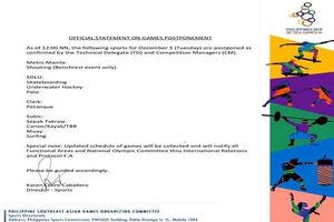 SEA Games báo hoãn nhiều môn thi, không có trận U22 Việt Nam - U22 Singapore