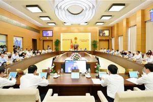 Các nội dung Chính phủ dự kiến trình UBTVQH tại các Phiên họp thường kỳ năm 2020