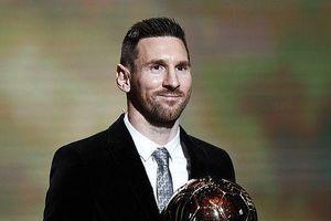 Lionel Messi lần thứ 6 giành Quả bóng vàng