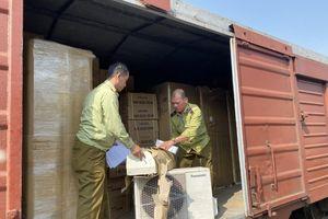 Phát hiện lô điều hòa, tủ lạnh có dấu hiệu nhập lậu tại Ga Giáp Bát