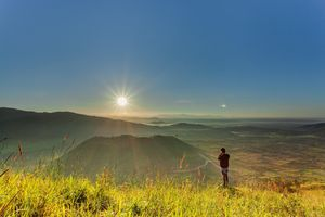 Ngỡ ngàng trước cảnh đẹp trên núi lửa Chư Đăng Ya