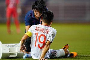 Quang Hải lỡ trận gặp U22 Thái Lan vì bị rách cơ đùi, đối mặt nguy cơ chia tay SEA Games