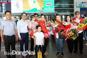 Đón cặp VĐV dancesport Đồng Nai giành HCV SEA Games 30