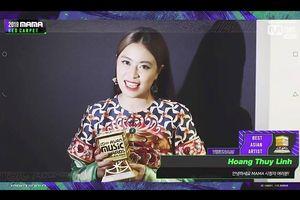 Hoàng Thùy Linh nhận giải Nghệ sĩ xuất sắc nhất Việt Nam tại MAMA 2019