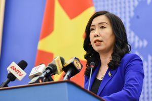 Đề nghị các bên liên quan tôn trọng chủ quyền của Việt Nam