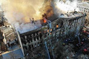 Ukraine: Cháy trường ĐH, 13 người mất tích