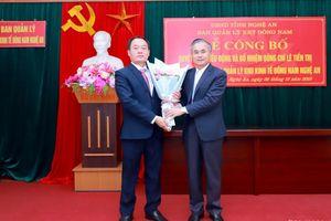 Trao quyết định bổ nhiệm Trưởng Ban quản lý Khu Kinh tế Đông Nam Nghệ An