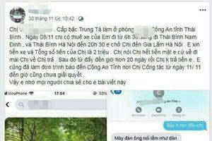 Công an tỉnh Thái Bình lên tiếng vụ nữ Trung tá bị tố 'quỵt' tiền taxi