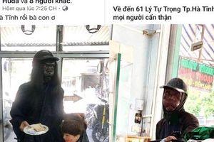 Thực hư thông tin xuất hiện người ăn xin 'mặt đen' ở Hà Tĩnh