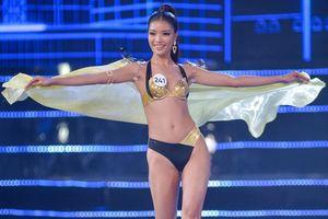 Phần trình diễn bikini nóng bỏng của top 15 Hoa hậu Hoàn vũ Việt Nam