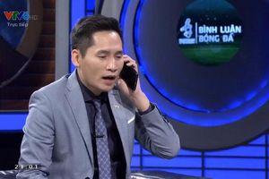BTV Quốc Khánh xin lỗi thủ môn Tiến Dũng trên sóng trực tiếp sau lần đùa vạ miệng