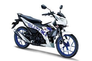 Ngắm Suzuki Raider R150 Fi 2020 màu trắng xanh giá 49,19 triệu, cạnh tranh với Honda Winner X, Yamaha Exciter