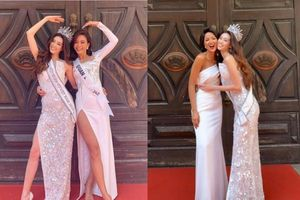 Hoa hậu Khánh Vân đọ sắc bên đàn chị, ngầm chứng minh nhan sắc chẳng kém cạnh ai chút nào!