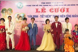 Xúc động lễ cưới tập thể cho công nhân khó khăn và người khuyết tật