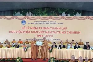 Học viện Phật giáo Việt Nam tại Thành phố Hồ Chí Minh kỷ niệm 35 năm thành lập