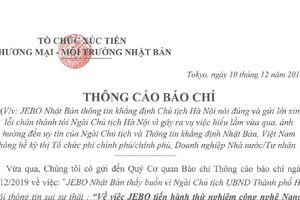JEBO thừa nhận không hề xin phép, xin lỗi Chủ tịch UBND TP Hà Nội
