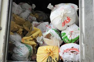 Xe container chở hơn 10 tấn nội tạng bốc mùi