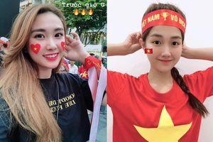 Bạn gái cũ Bùi Tiến Dũng, hot girl Kiều Trinh cổ vũ U22 Việt Nam