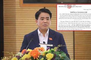 Chuyên gia Nhật Bản xin lỗi Chủ tịch Hà Nội Nguyễn Đức Chung vì 'hiểu lầm phát ngôn'