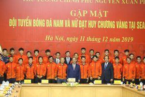 Thủ tướng hòa ca cùng các nhà vô địch SEA Games