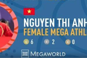 Xúc động với hình ảnh Ánh Viên được vinh danh là VĐV xuất sắc nhất SEA Games 30
