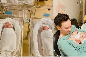 Ngắm cặp quý tử sinh đôi đáng yêu như thiên thần của MC Thành Trung
