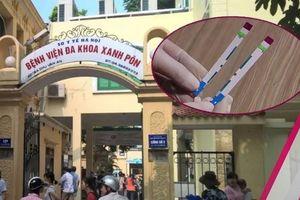 Công an Hà Nội điều tra vụ que thử HIV, viêm gan B bị cắt đôi