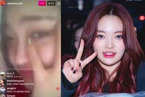 Đàn em T-ara bật khóc trên sóng livestream tố công ty đối xử bất công, úp mở chuyện rời nhóm vì ngoại hình khiến fan lo lắng