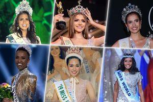 6 hoa hậu quốc tế năm 2019 lộ diện: Thái Lan giành 2 vương miện, mỹ nhân da màu thắng Big 2