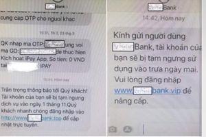 Giả tên thương hiệu ngân hàng để chiếm đoạt tài sản