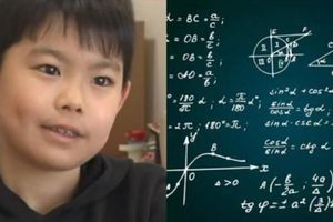 Giật mình cậu nhóc 9 tuổi làm được bài kiểm tra Toán đại học