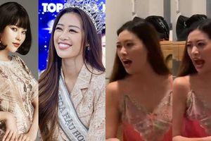 Hoa hậu Khánh Vân 'cãi nhau' tay đôi với chị gái song sinh của Nam Em